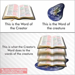 This is the Word of the Creator This is the Word of the creature This is what the Creator's Word does to the words of the creature