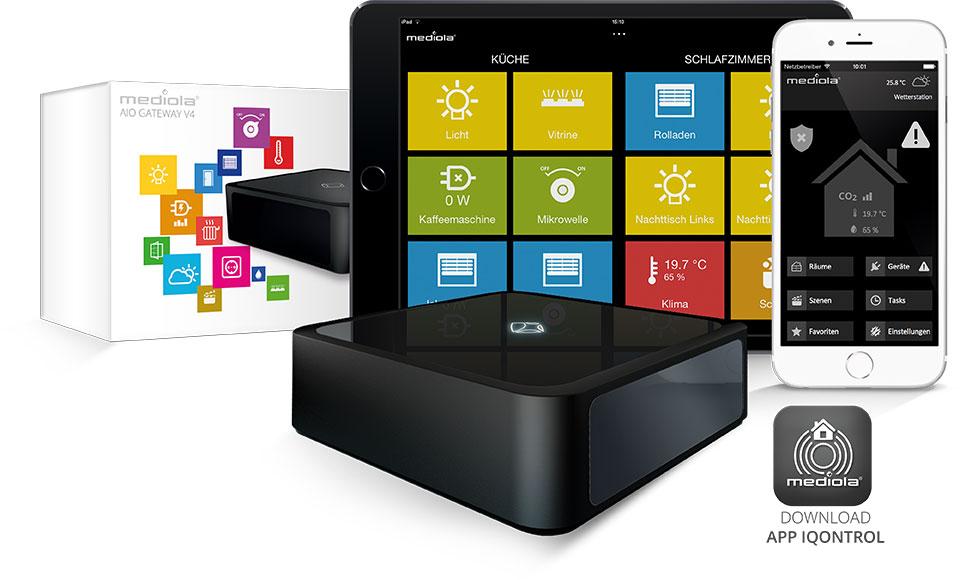 mediola Smart Home Gateway und Iqontrol App kaufen