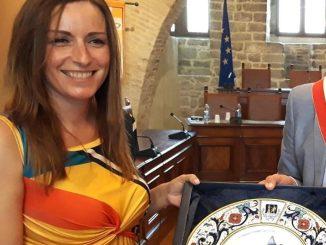 La Sottosegretaria ai Beni Culturali Borgonzoni visita Deruta