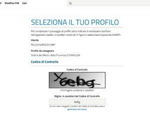 INPS, schermata codice di controllo per accesso alla pagina di compilazione del certificato d'invalidità