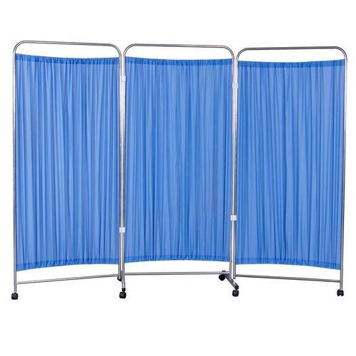 hospital patient bed side partition screen stand