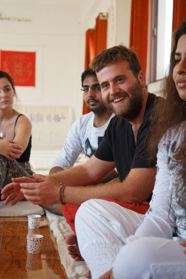 Meditation Teacher Training Satyam Shivam Sundaram Meditation School Rishikesh Goa India Meditation Teacher Shiva Girish sharing tea session