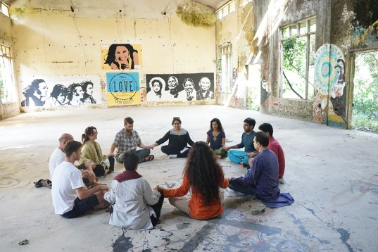 Meditation Teacher Training Satyam Shivam Sundaram Meditation School Rishikesh Goa India Meditation Teacher Shiva Girish Beatles Ashram