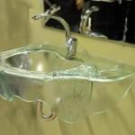 כיור משתפך מזכוכית