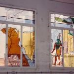 חלון ויטראז ויטראז זה פסיפס התזת חול,ויטראזים, ויטראז' , חלון ויטראז