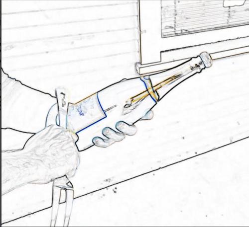 Saber Bottle Veuve Clicquot