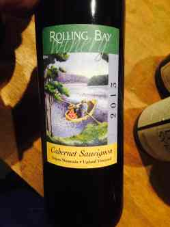 Rolling Bay Winery, Upland Vineyard Cabernet Sauvignon 2013