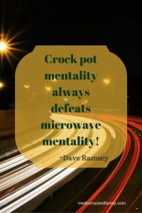 Crock pot mentality always defeats microwave