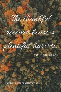 The thankful receiver bears a plentiful harvest.