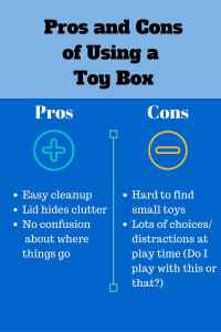 Pros and Cons of Using a Toy Box