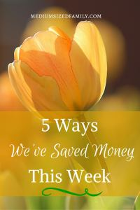 5 Ways We've Saved Money This Week: Read along as one family tells different ways that they've saved money week after week.