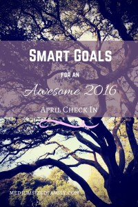 How are your yearly goals going? It's April and we're checking in on our SMART goals and our BHAG for paying off debt. Check out how we're reaching our big goals this year.