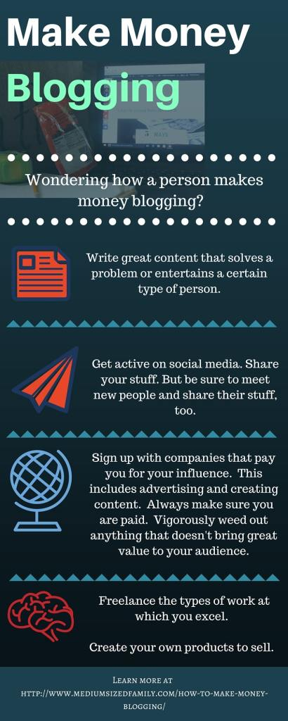How to make money blogging. Ever wonder how people make money from their blog? Here are some tips.