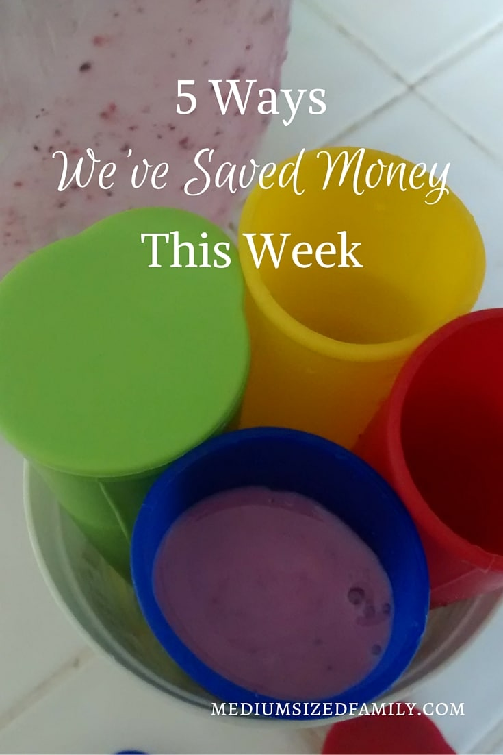 5 Ways We've Saved Money This Week 39: The latest in a money saving series of posts. Learn a variety of ways that you can save money at home.