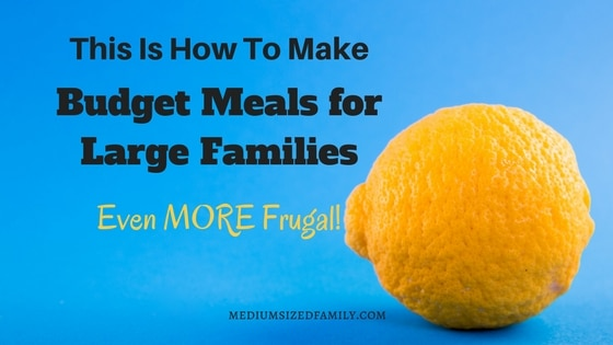 This Is How To Make Budget Meals for Large Families Even More Frugal
