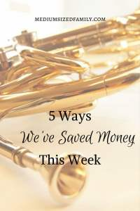 5 Ways We've Saved Money This Week 47. Looking for money saving tips? This blogger shares ways her family has saved each week. There's a whole series of ways to save money here.