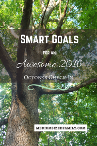 SMART Goals for 2016 October Check In. This family set goals for the year, but their biggest goal is to pay off debt. Find out how they're doing in their October check in.
