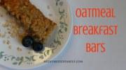 Easy Oatmeal Breakfast Bars: A Frugal, Homemade Snack On the Go