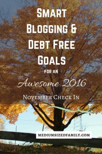 Each year we set goals for our family, home, and finances. This year we have a BHAG to pay off debt. I'm also sharing all of my blogging goals. Check it out for some inspiration.