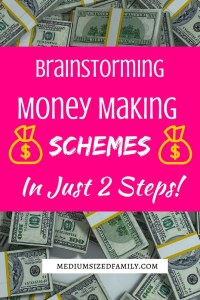 You can brainstorm money making schemes in just 2 simple steps. Get a list of ideas to get started and tips for helping you discover your own money making ideas.
