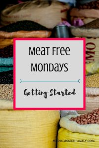 Meat Free Mondays - Getting Started.  Get meat free Monday recipes and learn how to convince your family to get onboard with meatless meals.
