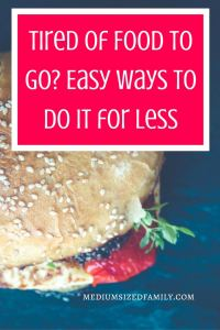 Families are so busy and always on the go. But eating on the go becomes tiresome...not to mention expensive. This year, we found ways to find food to go for a fraction of the cost and ended up saving hundreds. Here's how we did it.