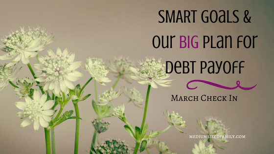 SMART Goals and Our BIG Plan for Debt Payoff - March Check In