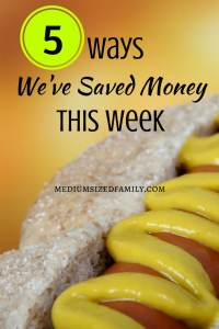 A list of ways this blogger saves week after week