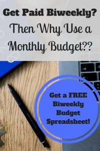 Learn how to budget for beginners. If you get paid every other week, you should use a biweekly budget rather than a monthly one!