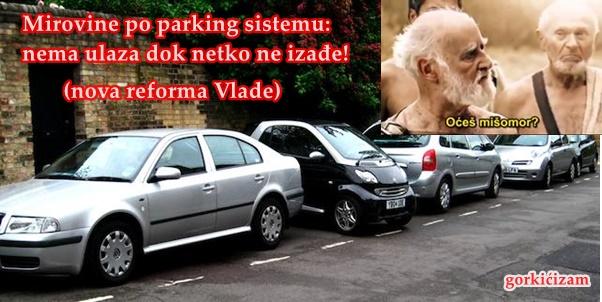 nova mirovinska reforma po parking sistemu