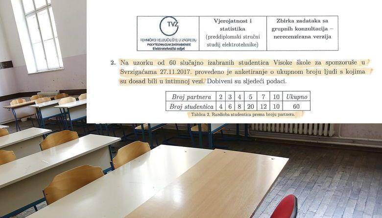 Zadatak na ispitu o broju intimnih veza studentica Visoke škole za sponzoruše