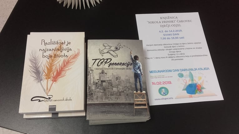 "Udruga Mlada pera donirala zbornike Dječjem odjelu Knjižnice ""Nikola Zrinski"" Čakovec"