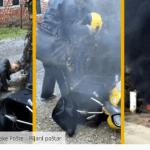 VIDEO: Pijani poštar – izgorio motor Hrvatske pošte!