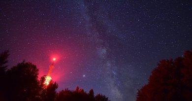 Spasimo noćno nebo u Međunarodnom parku tamnog neba Petrova gora - Biljeg
