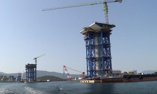 Spajanje konstrukcije Pelješkog mosta