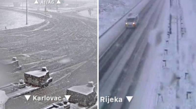 Snježni kaos na autocestama: Sudari na A1, A2, A6 i obilaznici