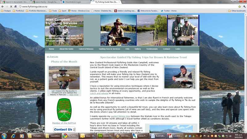 Alan Campbell (Bi-lingual Fly Fishing Guide, Mackenzie Country NZ)