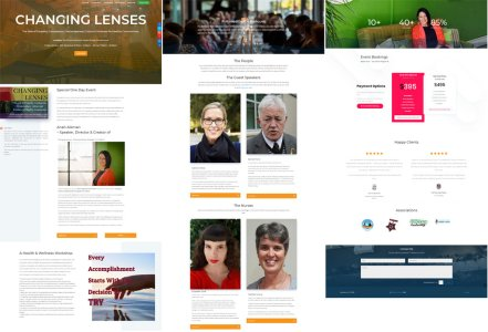 All 3 sections of the Changing Lenses landing page