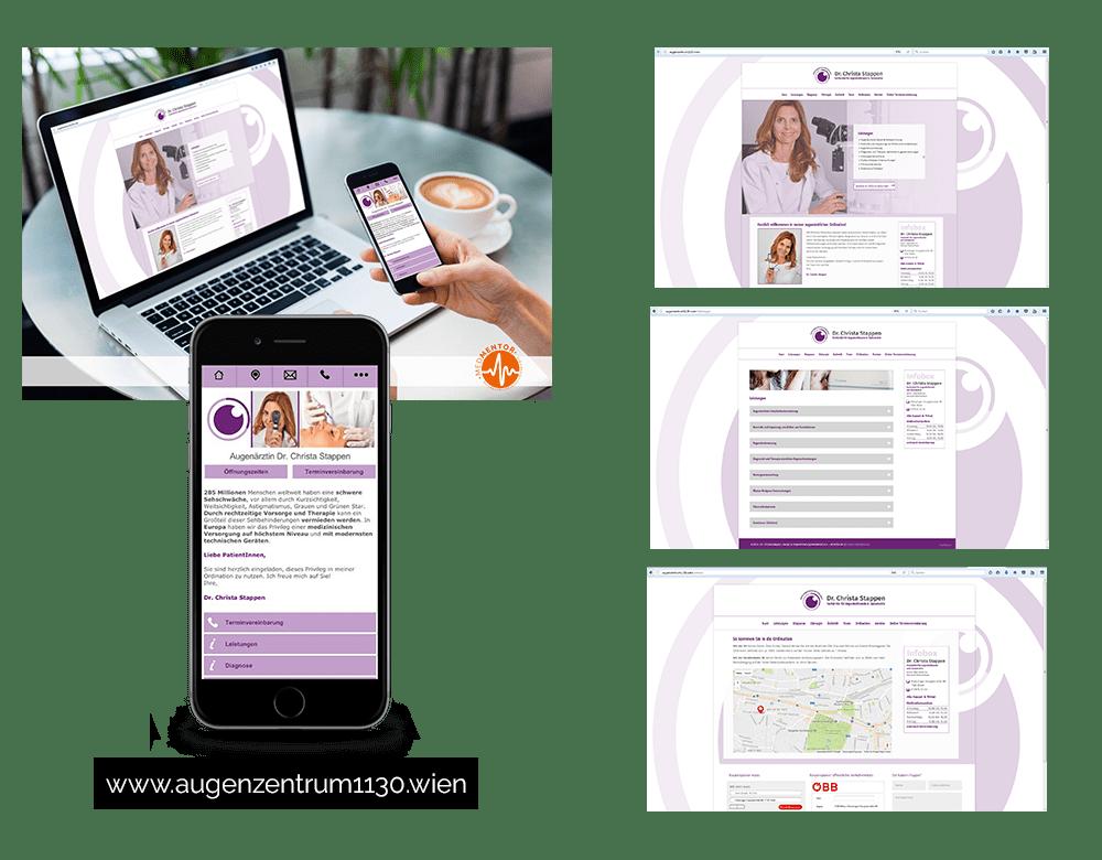 Internet Homepage Webpräsenz Arztpraxis Ordination Medmentor