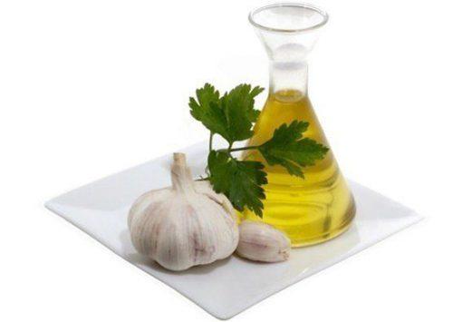 сок чеснока с оливковым маслом