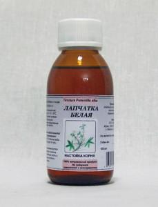 Особое место занимает применение настойки белой лапчатки при лечении щитовидной железы