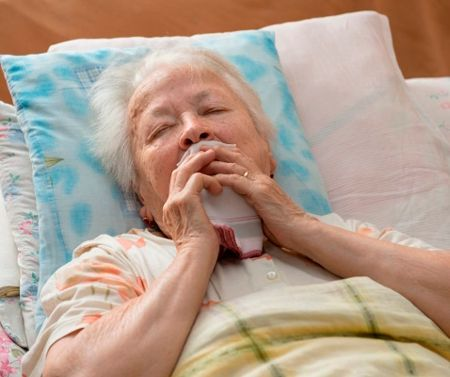 Лежачий больной при бронхите