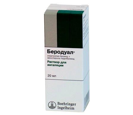 Препарат беродуал для лечения бронхита