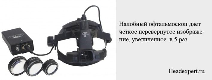 С помощью офтальмоскопа можно получить изображение, увеличенное в 5 раз
