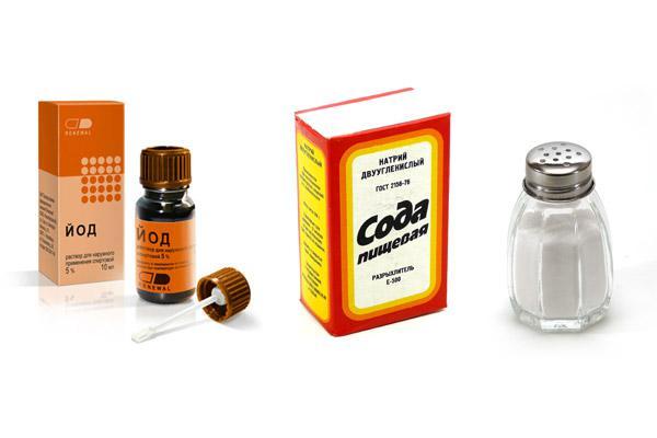 Пропорции полоскания горла содой, солью и йодом