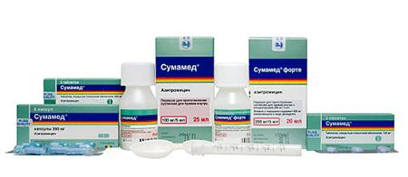 антибиотик сумамед при бронхите