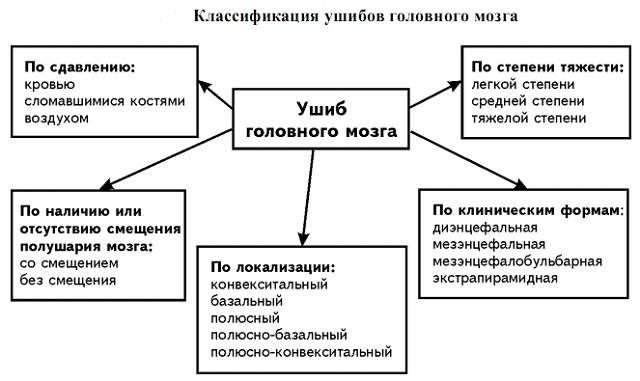 классификация ушибов
