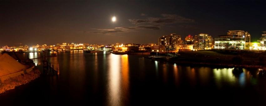 Panorama-Panoramic-Night-View-From-Bay-Bridge-Of-Dockside-Green-Downtown-Victoria-BC-British-Columbia-019