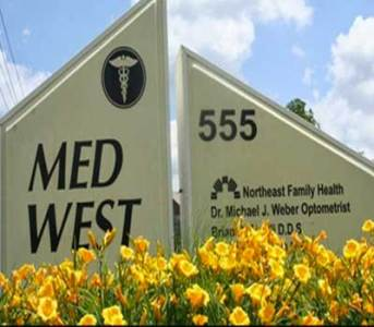 Med West Eye Care  614 891 0350  Columbus Ohio Optometry Med West Eyecare front sign in Westerville Ohio 555 Shrock Rd