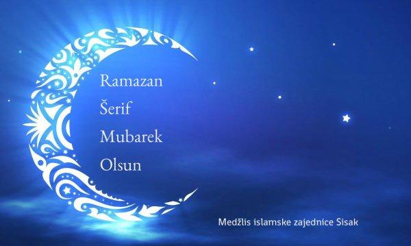 Ramazanska vaktija sa planom ramazanskih aktivnosti u MIZ Sisak